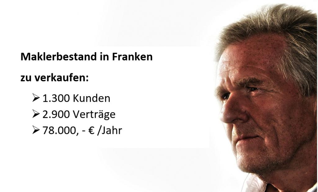 Versicherungsbestand kaufen Franken - Maklerunternehmen aus Franken sucht einen Nachfolger.